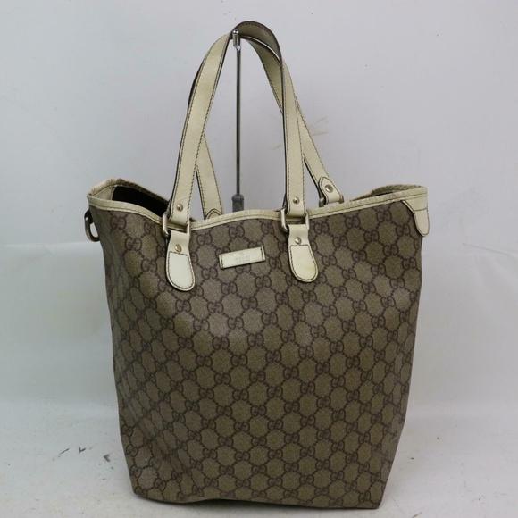 Gucci Handbags - Auth Gucci Tote Bag Vintage #930G63